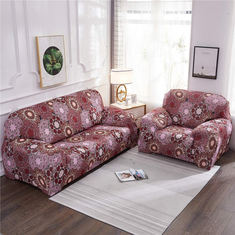 Youjoy Stretch Sofa Slipcover Chair Slipcovers-L Shape Printed Sofa Cover Armchair Slipcover Furniture Sofa Protector