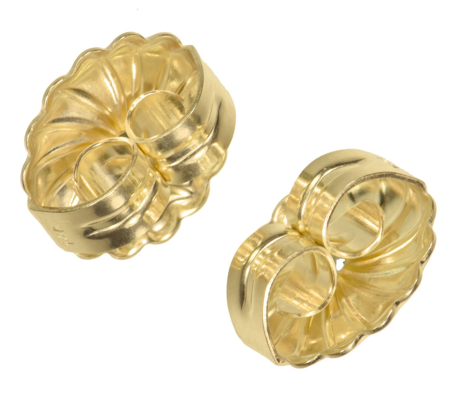 uGems 14K Solid Gold 9.5mm Spiral Swirl Circle Earring Backs for 0.030-0.035'' Post 1 Pair by uGems (Image #2)