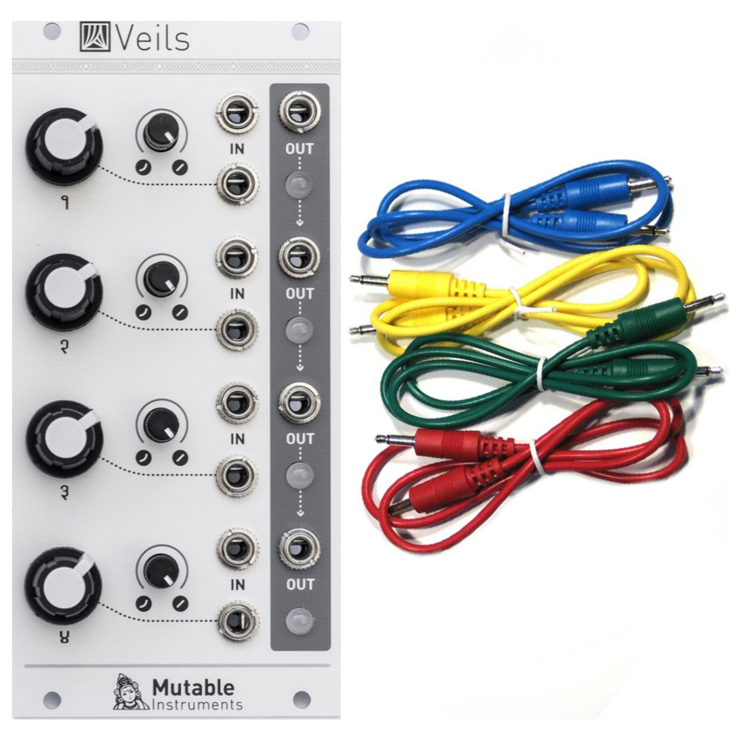 Mutable Instruments Veils Eurorack Module- Quad VCA w/ 4 Cables by Mutable Instruments (Image #1)