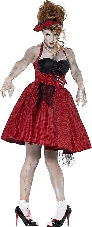 Smiffys - Disfraz zombie Rockabilly años 50 para mujeres, color ...
