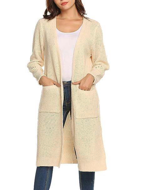 f8c368782af6ff Romanstii Donna Cardigan Lungo Cappotto Invernale e Autunnale Maglione  Giacca Tops Casuale con Due Tasche: Amazon.it: Abbigliamento