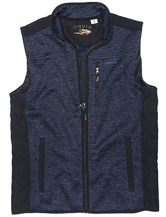 b239884f3d43e2 Men s Orvis Fleece Sweater Vest at Amazon Men s Clothing store