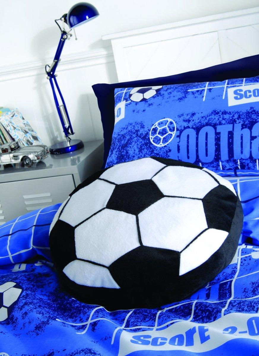 Catherine Lansfield Kids - Cuscino a forma di palla da calcio BDB1 9601 WCUSH