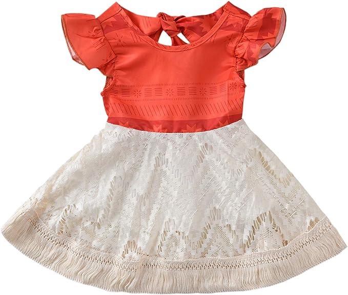 Amazon.com: Disfraz de Moana para bebé con volantes a juego ...