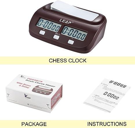 Reloj Digital de ajedrez Cuenta atrás Tiempo Abajo Juego de Mesa electrónico Bono de Competencia Torneo Maestro Gratis: Amazon.es: Electrónica