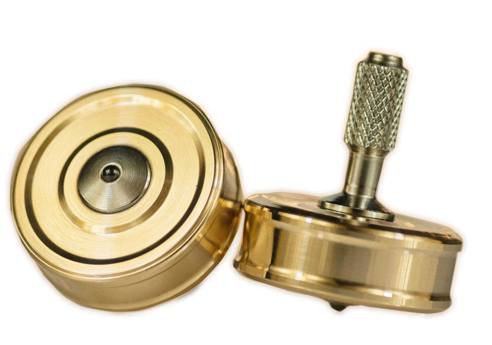 Bronze Pocket Top Precision Spinning Desk Toy for a Hand Made High End Collection by RCS ProFab INC. (Image #9)