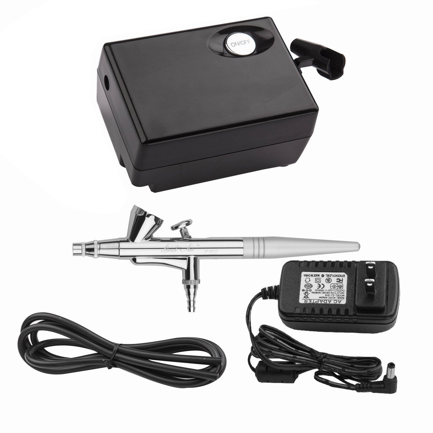 Yenny shop Airbrush Makeup Kit Beauty Special air Compressor Black Suit,Cosmetic Makeup Airbrush and Compressor System for Face, Nail, Temporary Tattoos, Cake Decorating