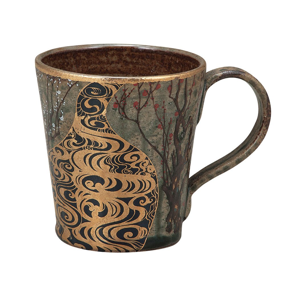 Kutani mug Korin plum (Japan import / The package and the manual are written in Japanese) 4514205188501