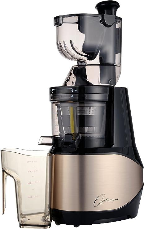 Optimum 700 Discreta kaltpressender Licuadora con 8 cm Bahía XXL 40 U/min, Slow juicer sin Centrifugadora, eléctrica kaltents After, fruta exprimidor, Robot de cocina lentamente drehend dorado: Amazon.es: Hogar