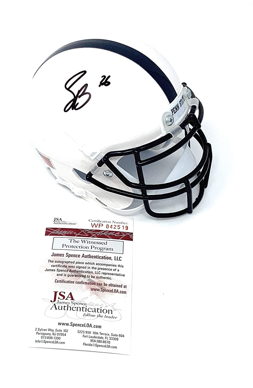 Saquon Barkley Penn State Nittany Lions Signed Autograph Schutt Mini Helmet JSA Witnessed Certified