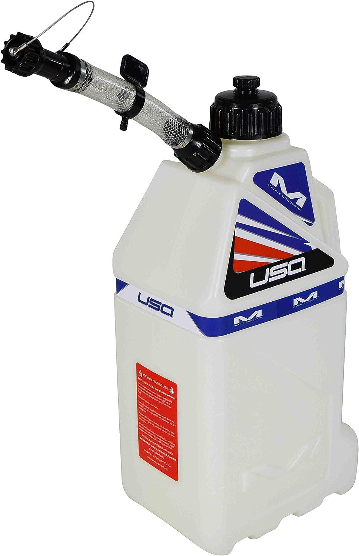 USA White Matrix Concepts M3 4.0 Gal Utility Can Easy Pour Nozzel w Limited Edition 25 Piece Sticker Kit