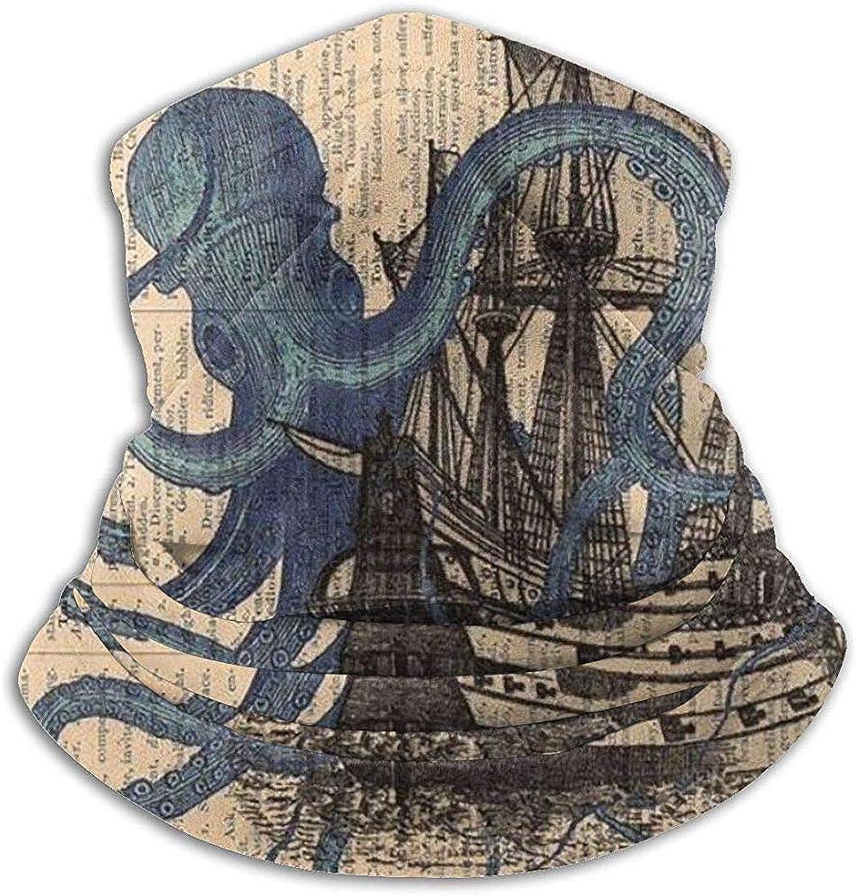Merle House Ocean Octopus Barco náutico Polaina con cuello de bandera pirata, Sombreros, Mascarilla facial, Bufanda mágica, Bandana, Pasamontañas, Diadema o: Amazon.es: Ropa y accesorios