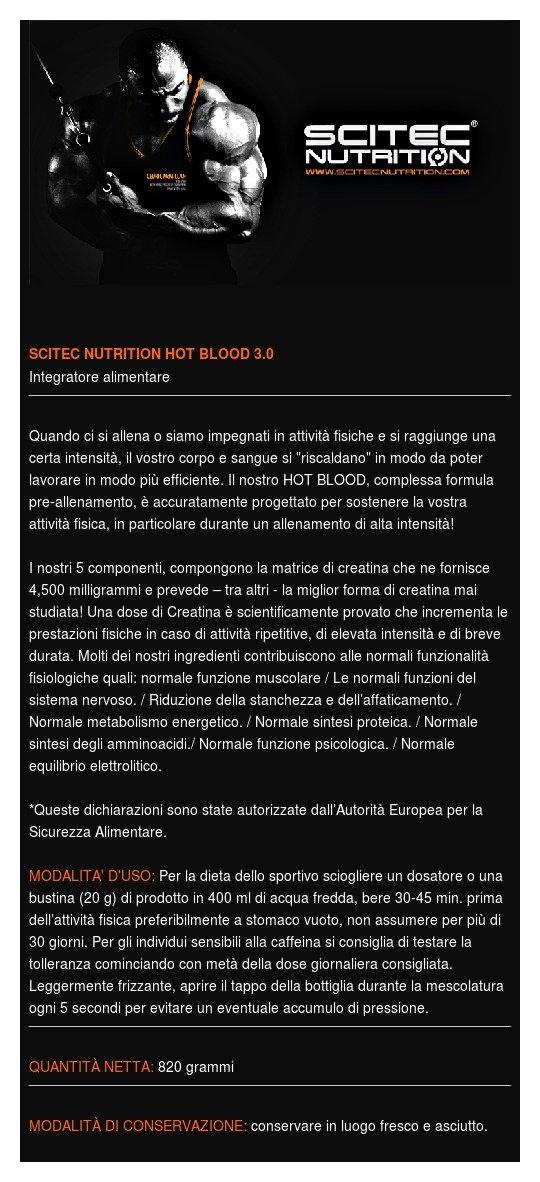 Scitec Nutrition Hot Blood 3.0 - Proteína en polvo, 820 gr: Amazon.es: Salud y cuidado personal