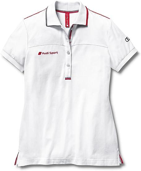 Audi 3131202112 Sport Polo para Mujer, Talla S, Blanco: Amazon.es ...