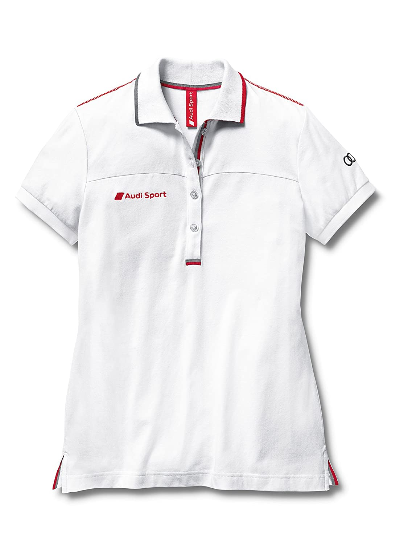 Audi 3131202113 Sport Polo para Mujer, Blanco, Talla M: Amazon.es ...