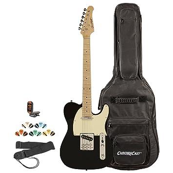 Diente de Sierra st-et-bkw-kit-2 guitarra eléctrica, Negro con Blanco Envejecido Golpeador: Amazon.es: Instrumentos musicales