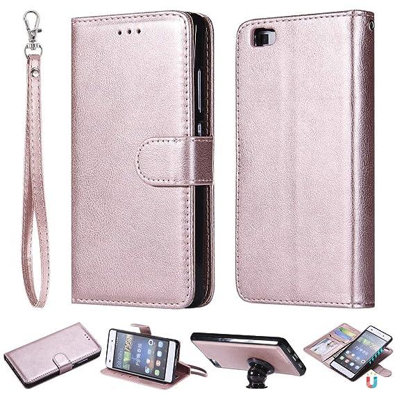 finest selection c8449 78a69 Amazon.com: IVY 2 in 1 Wallet Case for P8 Lite,[Detachable][Fit ...