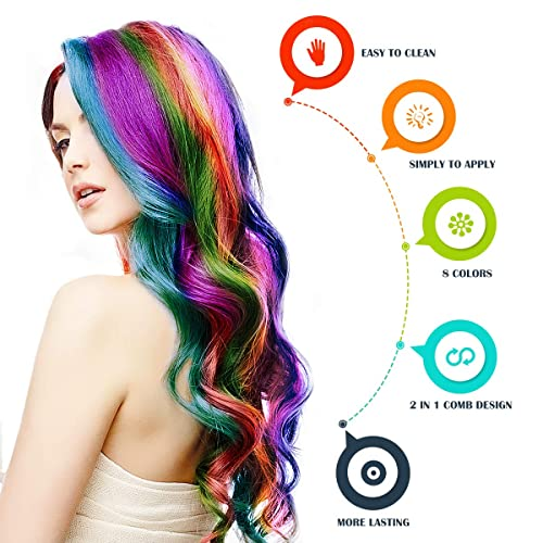 Hair Chalk Color Comb Temporary Hair Color Cream Non-toxic Washable