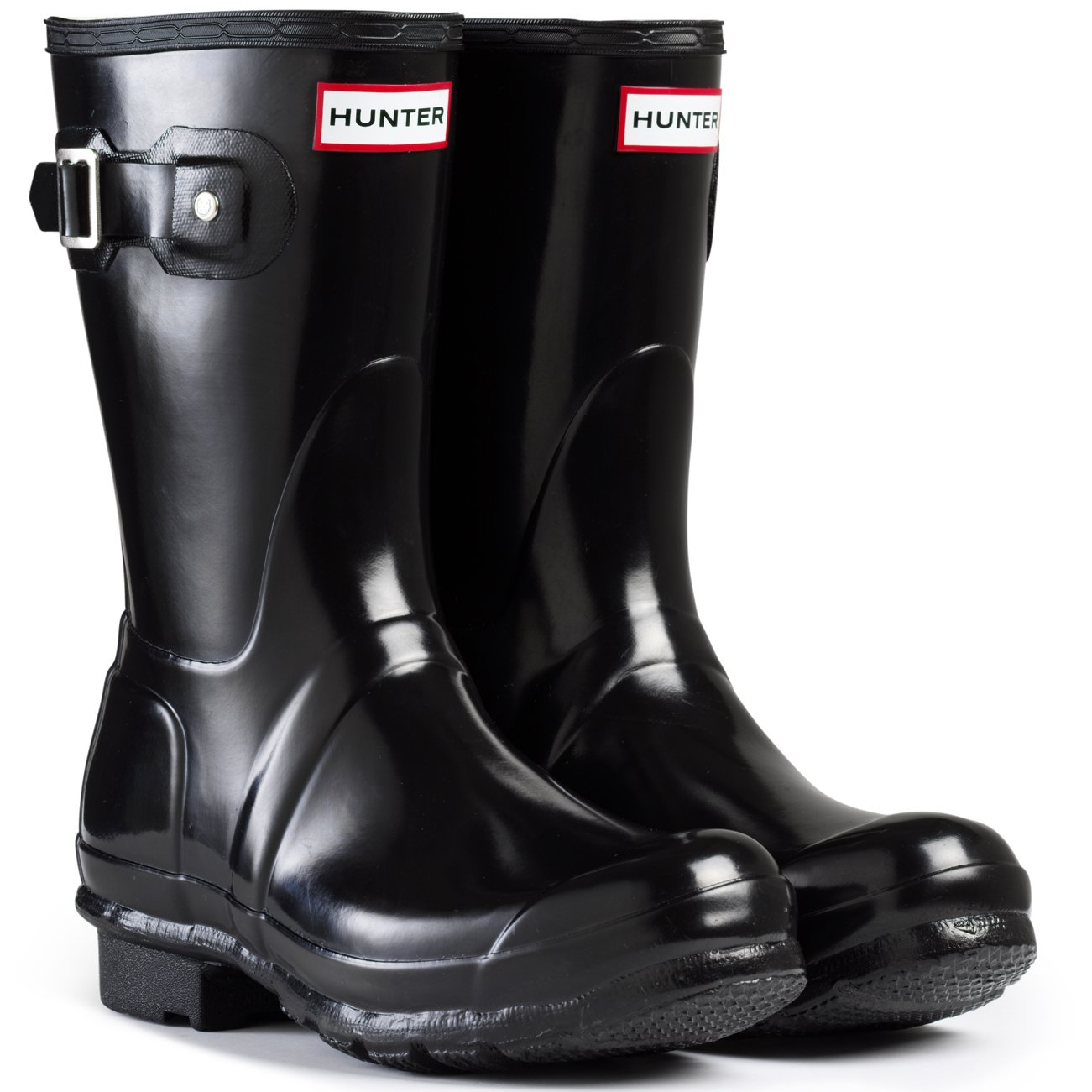 Black Gloss Hunter Original Short Boot Snow Boot