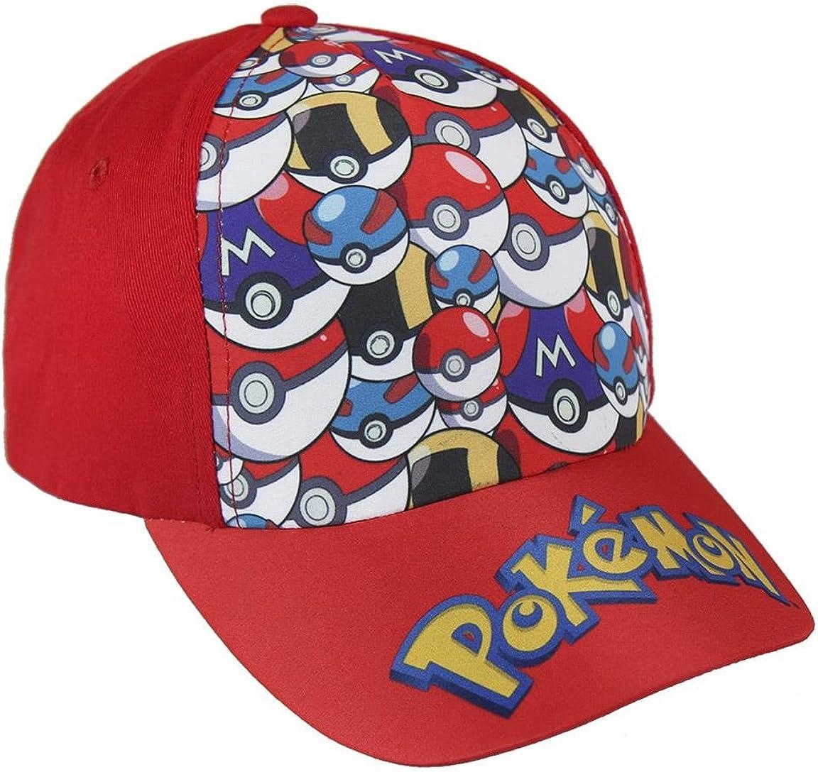 Pokémon 2200-2394 Gorra, Algodón, Niño (Rojo): Amazon.es: Ropa y ...