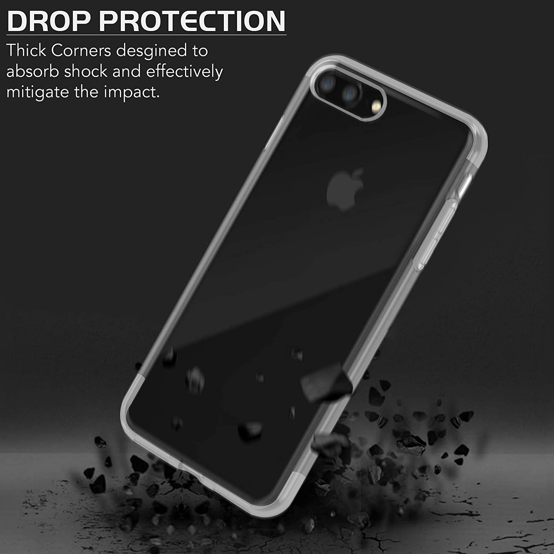 Silikon TPU F/ünf Farboption HD Klar Anti-Scratch Bumper Back Protective Gel Cover iSOUL Premium Schutzh/ülle f/ür Apple iPhone 8 Plus und iPhone 7 Plus sto/ßfeste Handyh/üllen