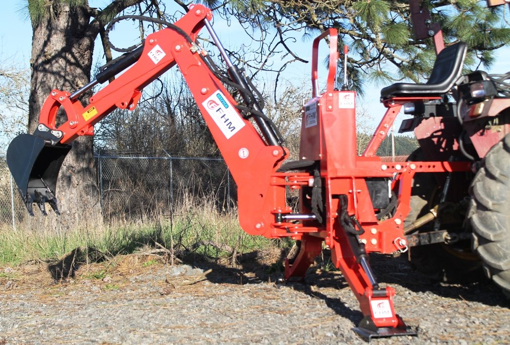 Farmer Helper 6' Dig Tractor Backhoe w/Tank,Pump,Filter, PTO Powered Cat.I 3 Point 25Hp+ (FH-BH6) Requires a Tractor. Not a standalone Unit.