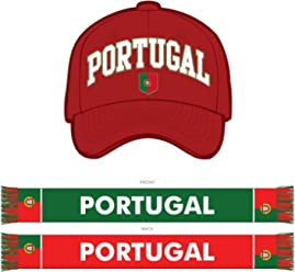 Portugal Double-Sided Scarf & Hat Combo Pack