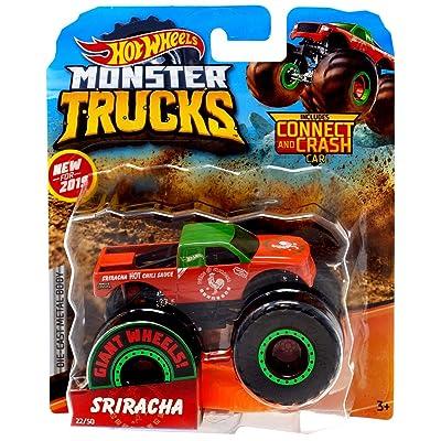 Hot Wheels 2020 Monster Trucks Giant Wheels Sriracha 1:64 Scale: Toys & Games