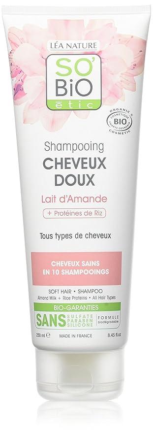 So Bio étic Champú (leche de almendras para cabello suave Bio 250 ml –