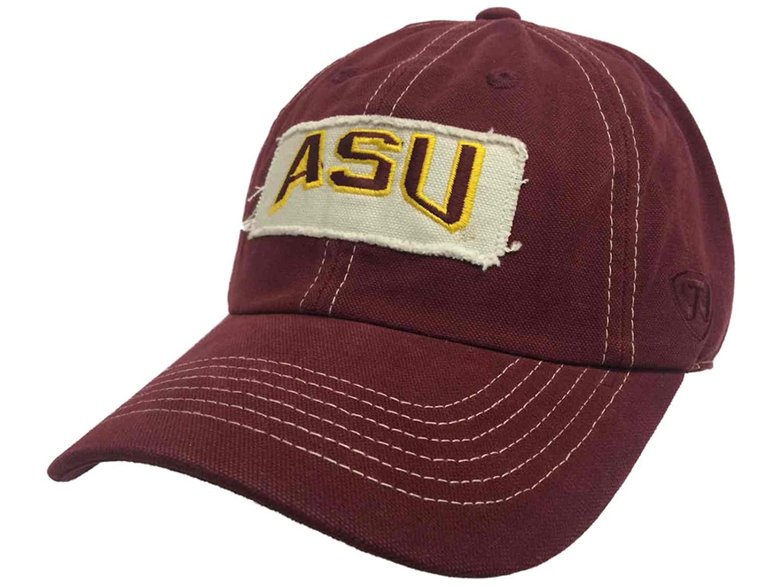 67c2e24a1ef Amazon.com   Top of the World Arizona State Sun Devils Tow Maroon Vintage  Retro Canvas Adjustable Hat Cap   Sports   Outdoors