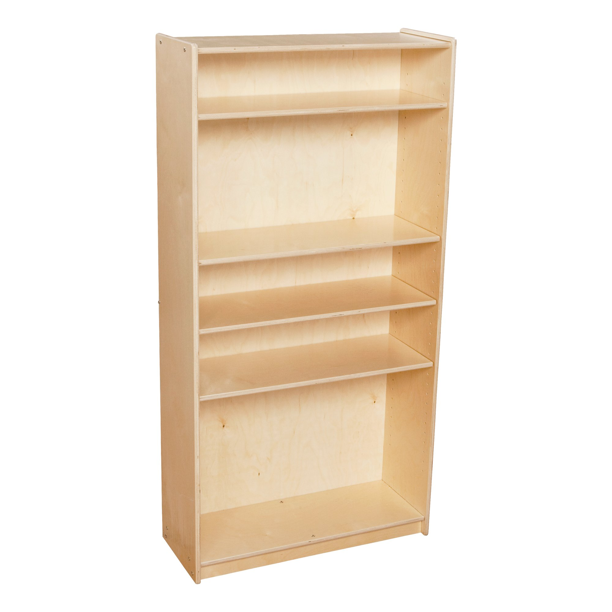 Sprogs SPG-2124A Wooden Bookcase with Five Shelves, 30'' W x 12'' D x 60'' H, 59 1/2'' Height, 12'' Wide, 30'' Length, Natural