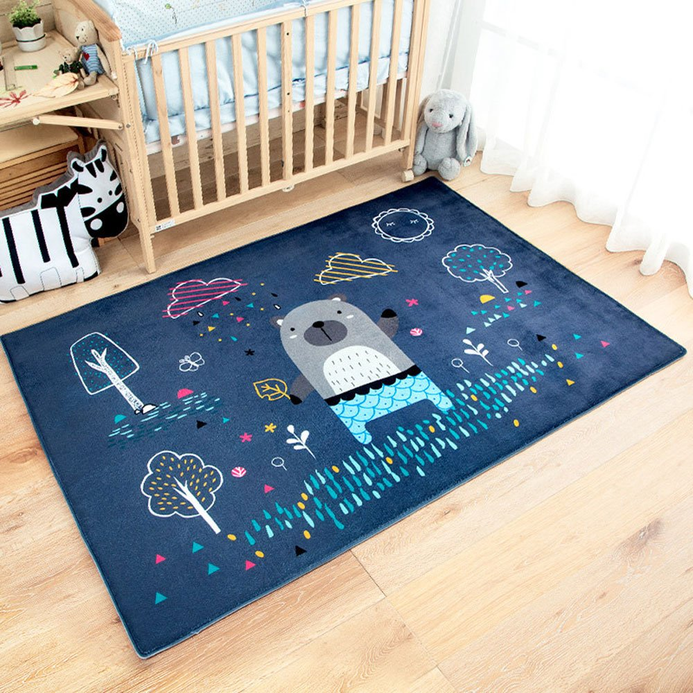 RuiHome Kids Baby Activity Crawling Mat Nursery Rugs Play Carpet for Bedroom Bedside Living Room, 39x59''