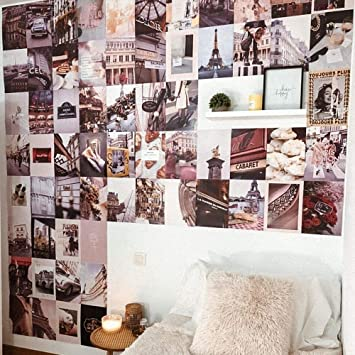Flamingueo Wall Decoration 100 Photos Room Tumblr Decor Bedroom Art Aesthetic Decorations Pictures For Walls Amazon Co Uk Diy Tools