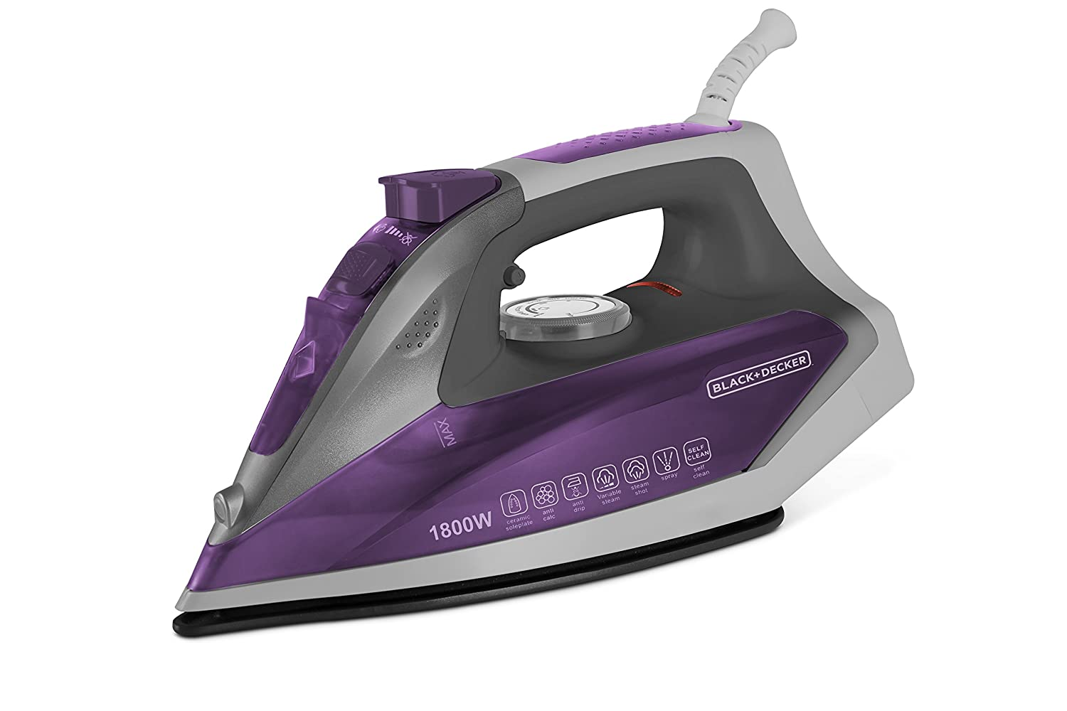Black Decker BD BXIR1801IN 1800Watt Steam Iron Purple