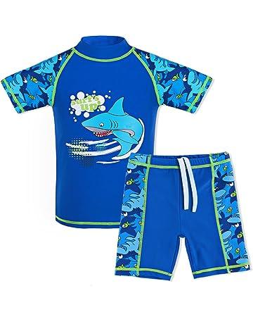 98c9104bb05cd TFJH E Kids Boys Swimsuit UPF 50+ UV Sun Protective 2PCS Fish Swimwear