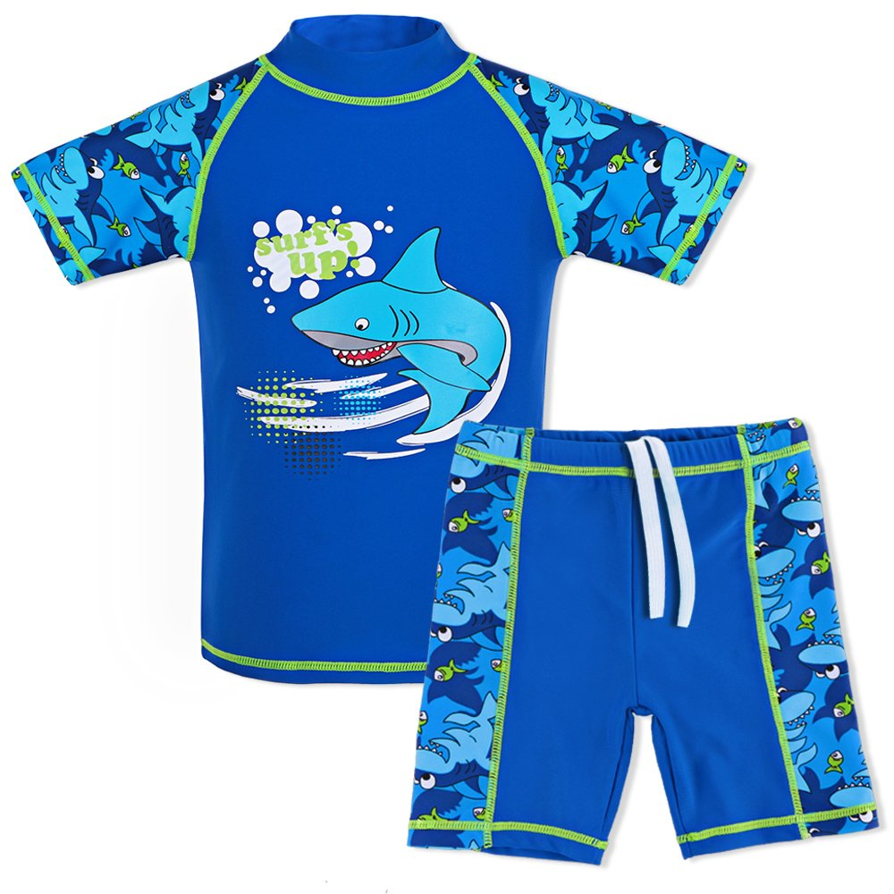 TFJH E Teen Boys Two Piece Swimsuit UPF 50+ UV Sun