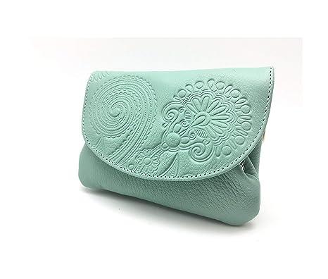 Cartera Portamonedas Monedero para Mujer Marca: Lugupell - Color Oceano (12,5 x 9 cm)