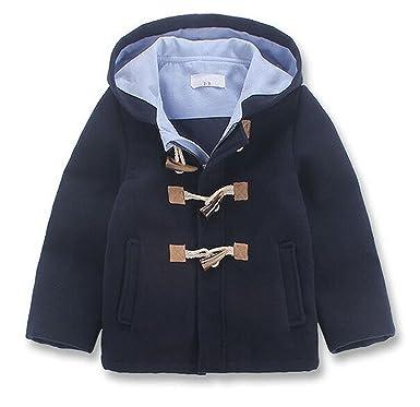 bba7f7c230d1 Amazon.com  Little Boys Wool Blend Fashion Hooded Toggle Jacket ...