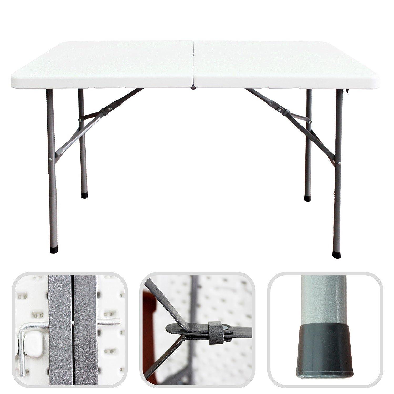 Todeco Folding Portable Table Heavy Duty Plastic Table