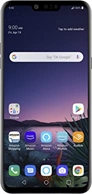 LG G8 ThinQ with Alexa Hands-Free – Unlocked SMARTPHONE – 128 GB – Aurora Black (US Warranty) – Verizon, AT&T, T–Mobile, Spr