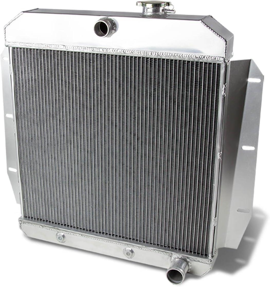 3Row Aluminum Radiator For GMC Truck Pickup Base L6 V8 Engine 1955-1959 58 57 56