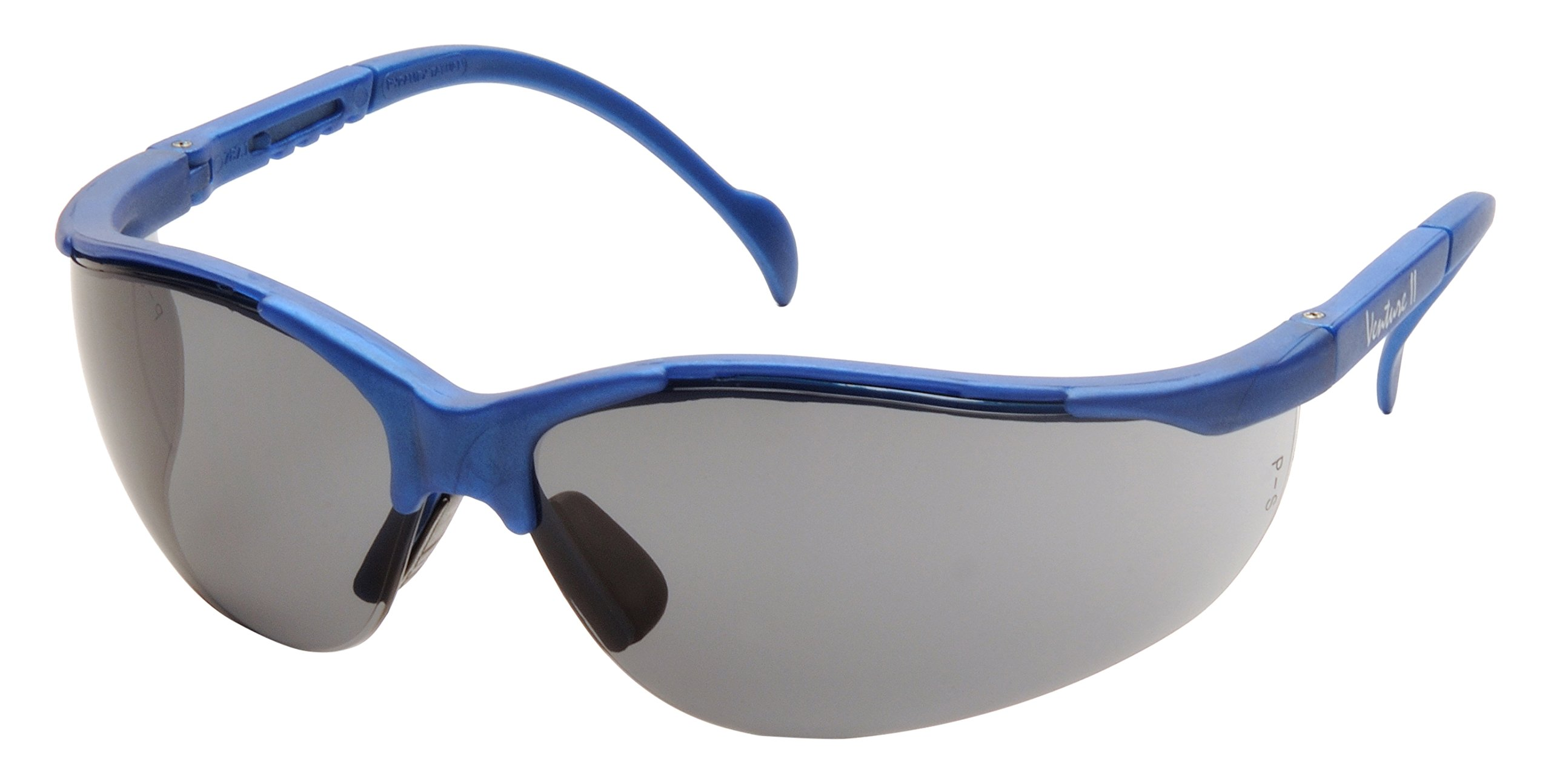 Pyramex Venture Ii Safety Eyewear, Gray Lens With Metallic Blue Frame by Pyramex Safety