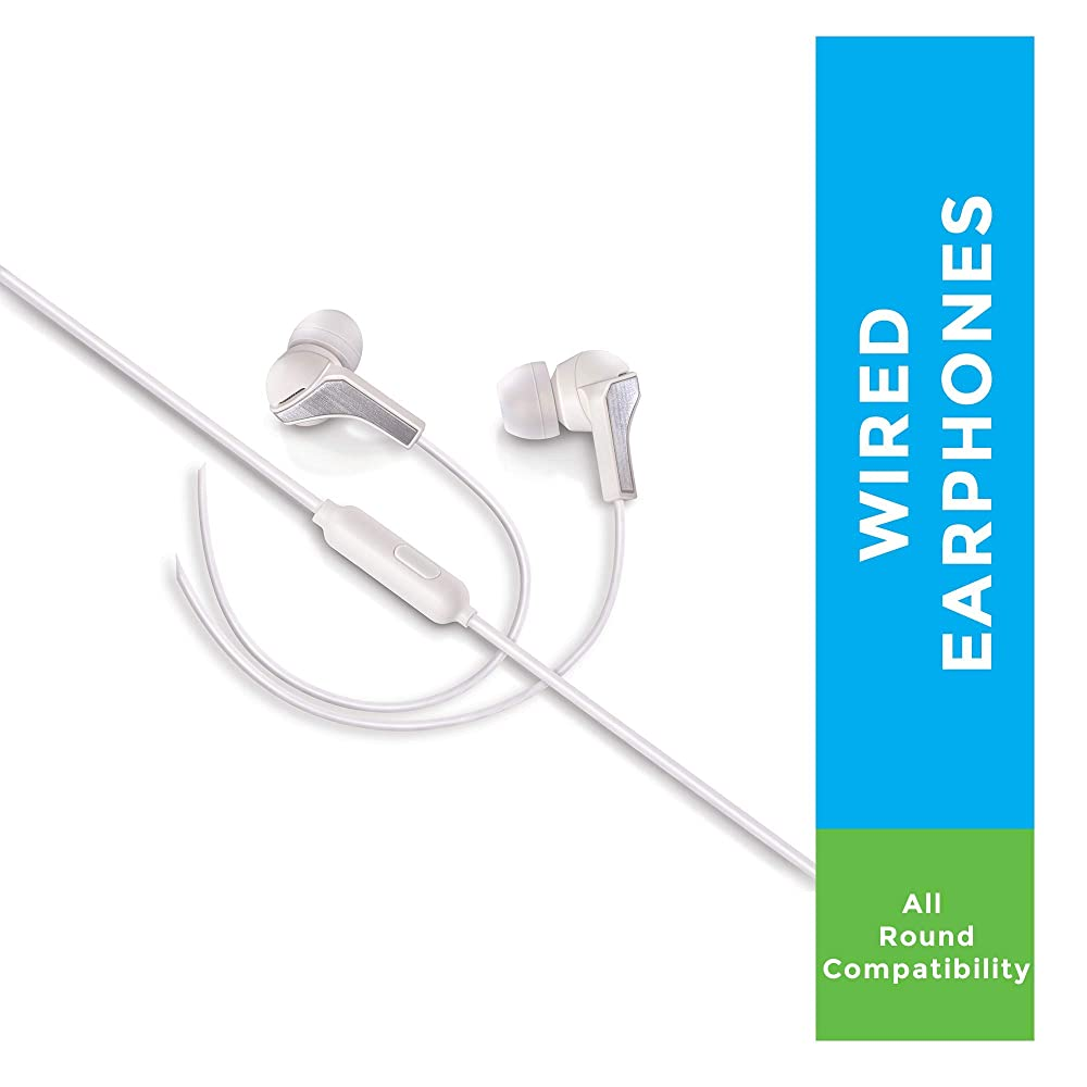 Syska HE1100 Beat Pro Earphone - White