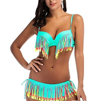 Femmes sexy low cut plage nager vacances maillots de bain, bandage spaghetti bandage culture couleur unie 2 pièces ensembles bikini