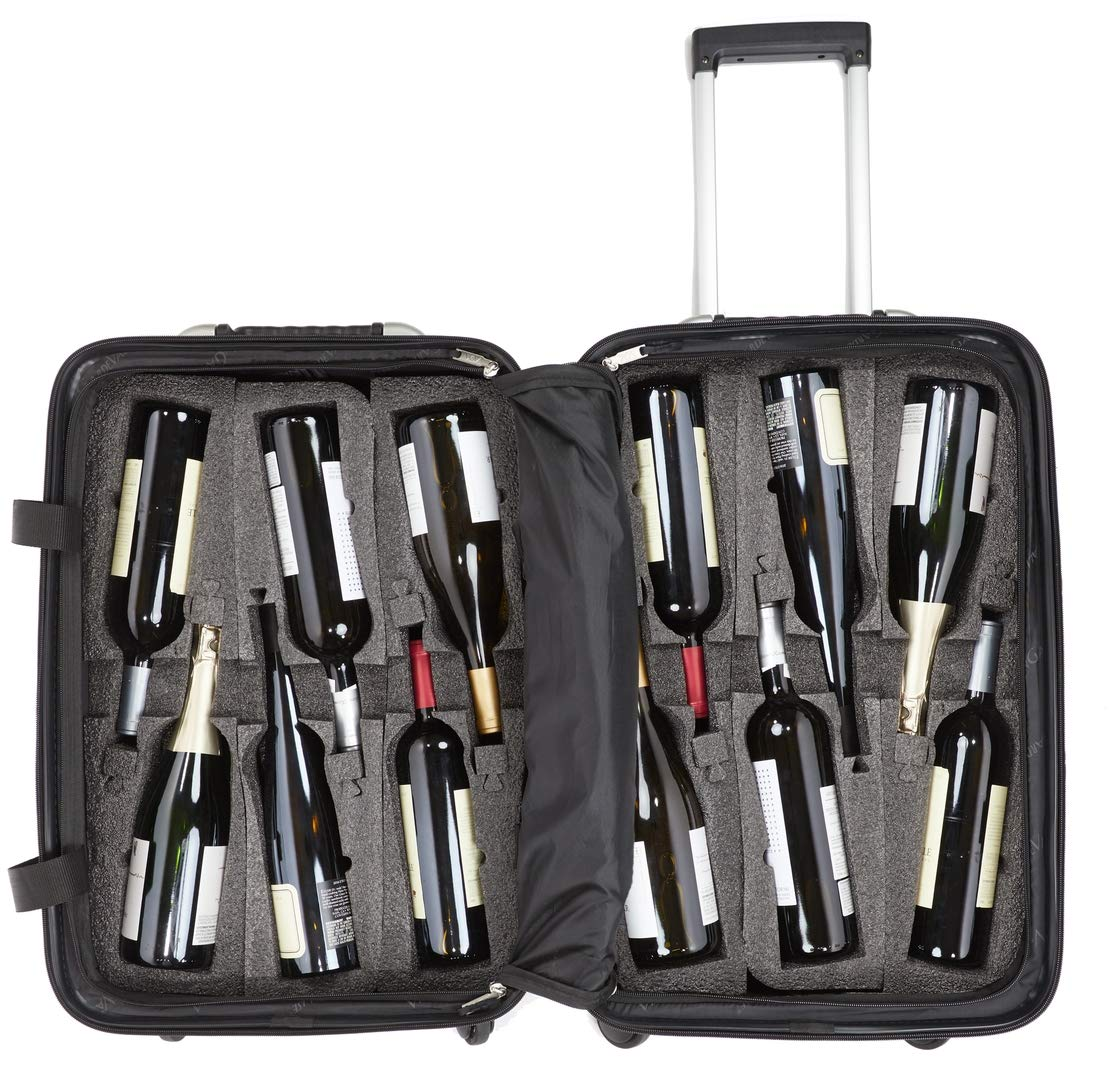 VinGardeValise - Up to 12 Bottles & All Purpose Wine Travel Suitcase (Black) by VinGardeValise (Image #3)