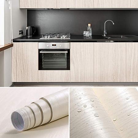 Ikinlo Papier Peint De Bois Adhesif Papier Adhesif Pour Meuble