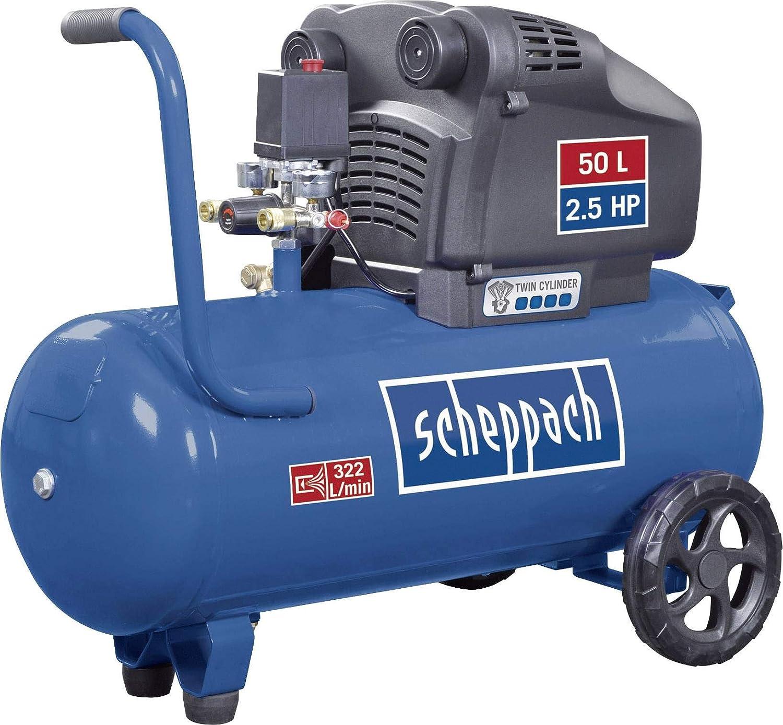 Scheppach Compresor hc54dc (1800 W, 50 L, 10 bar, potencia de ...