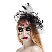 Valdler Halloween Black Costume Feather Net Deals