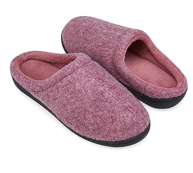 09bccc067 DRSLPAR Women's House Mule Slippers Comfort Memory Foam Slip-on Indoor  Outdoor Slippers(Purple