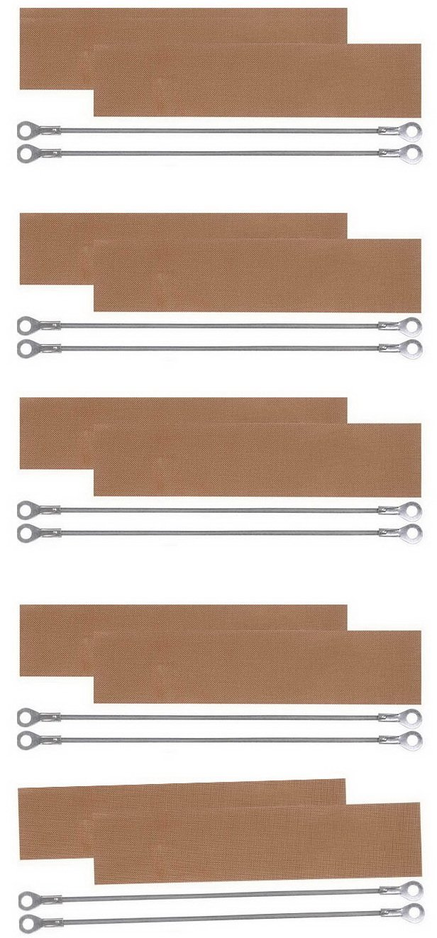 "(10) Kits Replacement Elements for Impulse Sealer PFS-400 16""(10 Heating Elements+10teflon)"